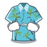Camisas hawaianas gritadoras dobladas en armario de la historieta ilustración del vector