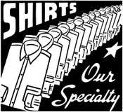 Camisas nuestra especialidad stock de ilustración