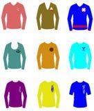 Camisas temáticos náuticas de t Fotografia de Stock