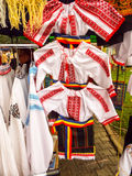 Camisas tradicionais romenas Imagem de Stock