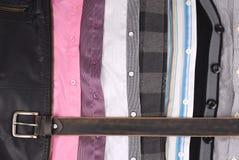 Camisas y una correa Fotografía de archivo libre de regalías