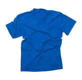 Camiseta azul arrugada Foto de archivo