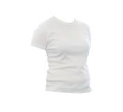 Camiseta blanca en blanco imágenes de archivo libres de regalías
