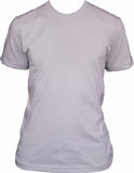 Camiseta blanca en blanco imagen de archivo