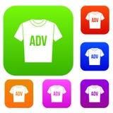 Camiseta con la colección determinada de los ADV de la impresión libre illustration