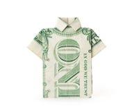 Camiseta de Bill de dólar Imágenes de archivo libres de regalías