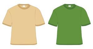 Camiseta de color caqui y verde ilustración del vector