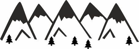 Camiseta de las montañas fotos de archivo