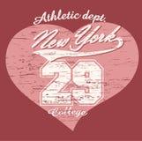 Camiseta de los gráficos de la tipografía de New York City Imagen de archivo