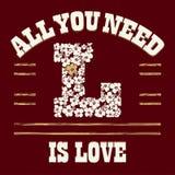 Camiseta del amor Imagen de archivo