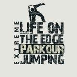 Camiseta del concepto de Parkour stock de ilustración