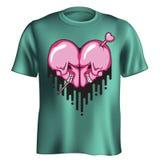 Camiseta del corazón del cráneo libre illustration