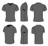 Camiseta del cuello en v de la manga del cortocircuito del negro de todos los hombres de las opiniones ilustración del vector