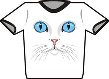 Camiseta del gato Fotos de archivo