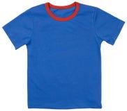 Camiseta del niño aislada en un blanco Imagenes de archivo