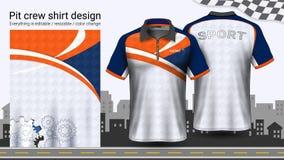 Camiseta del polo con la cremallera, compitiendo con la plantilla de la maqueta de los uniformes para el desgaste activo y la rop libre illustration