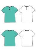 Camiseta en blanco Fotografía de archivo libre de regalías
