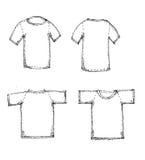 Camiseta en blanco Fotografía de archivo