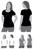Camiseta en blanco Fotos de archivo