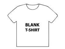 Camiseta en blanco Imagenes de archivo