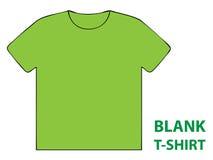 Camiseta en blanco Foto de archivo