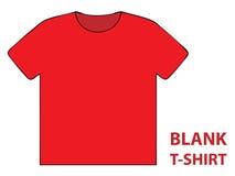 Camiseta en blanco Imagen de archivo libre de regalías