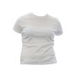 Camiseta en blanco de la muchacha Imagenes de archivo