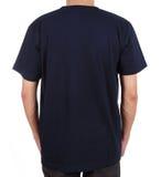 Camiseta en blanco en el hombre (lado trasero) Imágenes de archivo libres de regalías