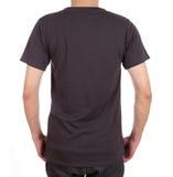 Camiseta en blanco en el hombre (lado trasero) Fotos de archivo libres de regalías