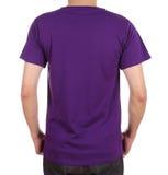 Camiseta en blanco en el hombre (lado trasero) Fotos de archivo