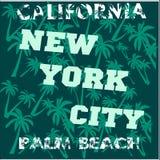 Camiseta Los Ángeles California, ropa de deportes stock de ilustración