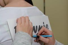 Camiseta que prepara la impresión de Foli - primer Imagen de archivo libre de regalías