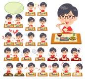 Camiseta roja Glasse men_Meal ilustración del vector