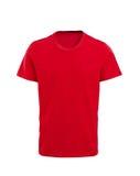 Camiseta roja masculina aislada en blanco Imagen de archivo libre de regalías