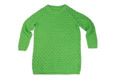Camiseta verde do algodão Isolado no branco Imagem de Stock