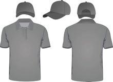 Camiseta y gorra de béisbol del polo Fotografía de archivo