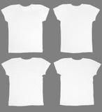 Camisetas blancas en blanco Foto de archivo
