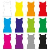 Camisetas de alças das mulheres Fotos de Stock