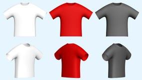 Camisetas de los hombres ilustración del vector