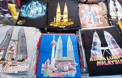 Camisetas malasias del recuerdo Imagen de archivo libre de regalías
