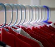 Camisetas rojas Imágenes de archivo libres de regalías