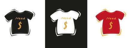 Camisetas tricolores Imágenes de archivo libres de regalías