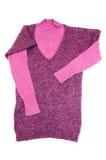 Camisolas elegantes do lilac em um branco. Imagens de Stock Royalty Free