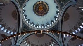 Camlica清真寺Ä°stanbul土耳其的内部 股票视频