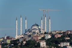 Camlica moské i Istanbul Arkivfoton