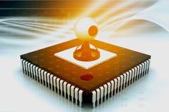 Camma di web sul chip di CI Immagini Stock