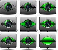 Camma digitale dell'icona Fotografia Stock