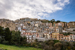 Cammarata in hillside, Sicily, Italy Royalty Free Stock Images