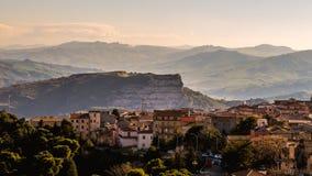 Cammarata, paisagem de Sicília, Itália Imagens de Stock Royalty Free