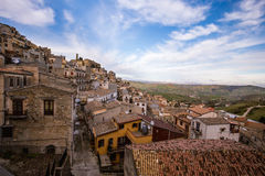 Cammarata, Sicily, Italy on hillside Stock Photos